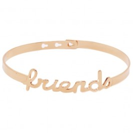 Bracelet Friends plaqué or rose