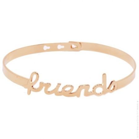 Bracelet Friends plaqué or rose