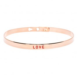 Bracelet painting plaqué or rose Love
