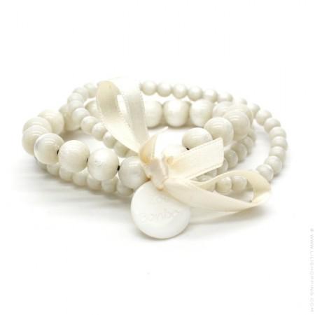 Bracelet triple nacré ivoire