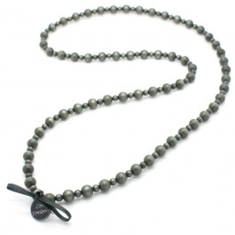 Dark grey Gabrielle long necklace by Zoe Bonbon