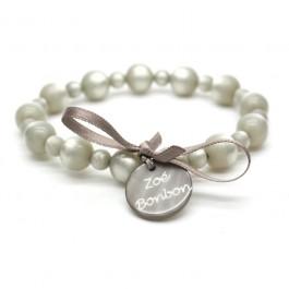 Bracelet Gabrielle nacré greige et taupe