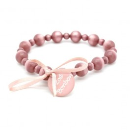 Old pink Gabrielle pearly beads bracelet Zoe Bonbon