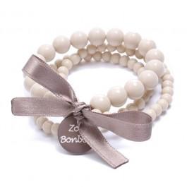 Bracelet beige taupe triple Zoé Bonbon