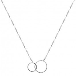 2 rings Silver necklace