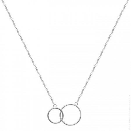 Collier 2 anneaux en argent