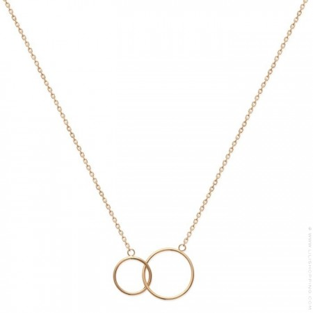 2 rings gold platted necklace