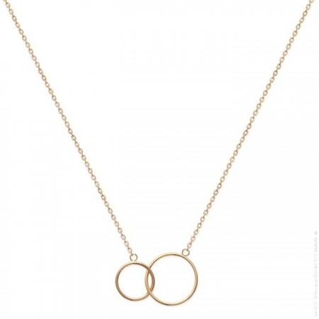 Collier 2 anneaux plaqué or