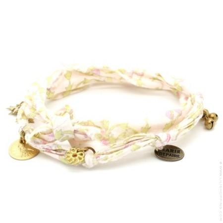 Bracelet doudou flower pastel