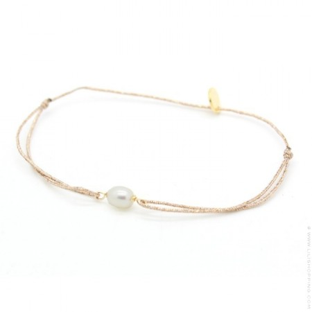 Bracelet lurex et perle de culture