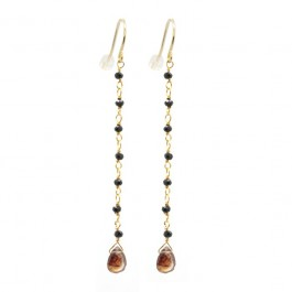 Lea zircon pink gold plated earrings