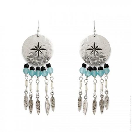 Boucles d'oreilles Hipanema Oby silver
