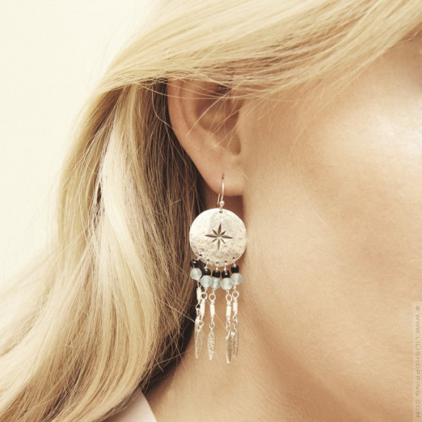 sortie en ligne vente pas cher grande qualité Boucles d'oreilles Hipanema Oby silver