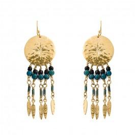 Caline Hipanema gold earrings