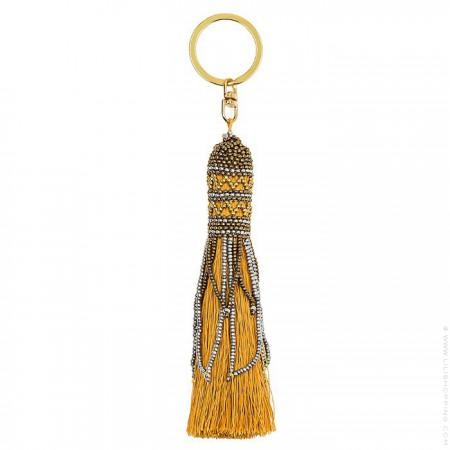 Balma saffron bag charm - keychain