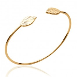Gold platted leaf bangle