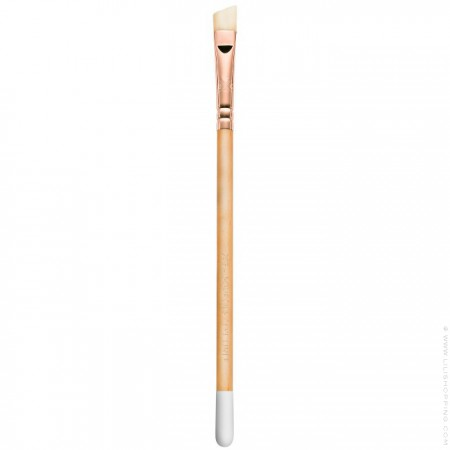 Natural wooden eyebrow and eyeliner brush