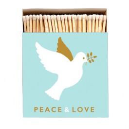 Grandes allumettes Peace & Love