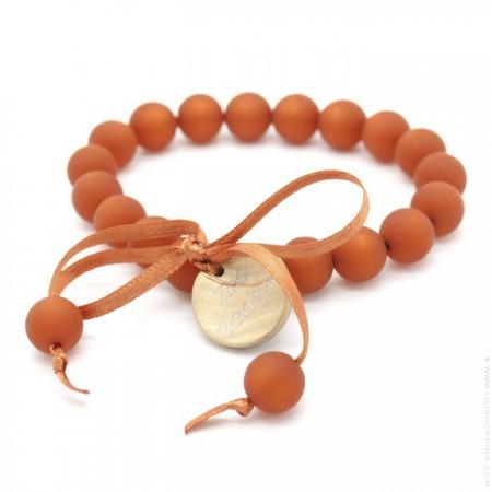Bracelet mini boules rouille