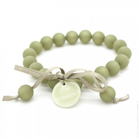 Kaki mini beads bracelet Zoe Bonbon