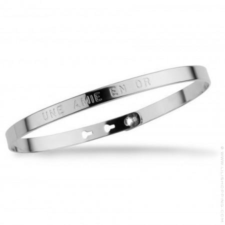 Une amie en or silver platted bracelet
