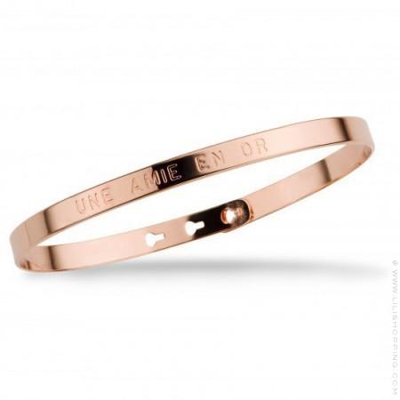 Une amie en or pink gold platted bracelet
