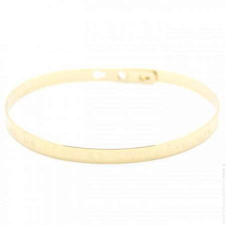 Bracelet Fais de ta vie un rêve et d'un rêve une réalité plaqué or