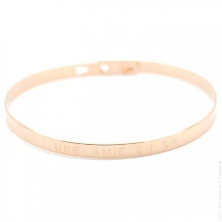 Bracelet Fais de ta vie un rêve et d'un rêve une réalité plaqué or rose