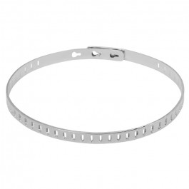 Bracelet rectangle plaqué argent