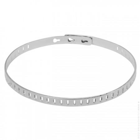 Bracelet rectangle plaqué argent