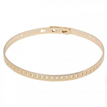 Bracelet rectangle plaqué or