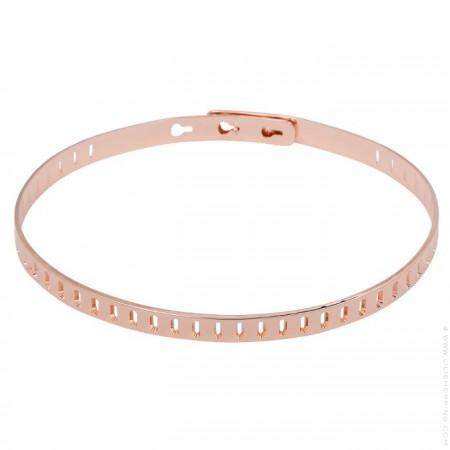 Bracelet rectangle plaqué or rose