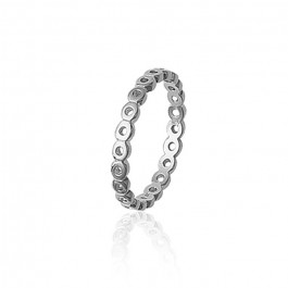 Silver openwork ring