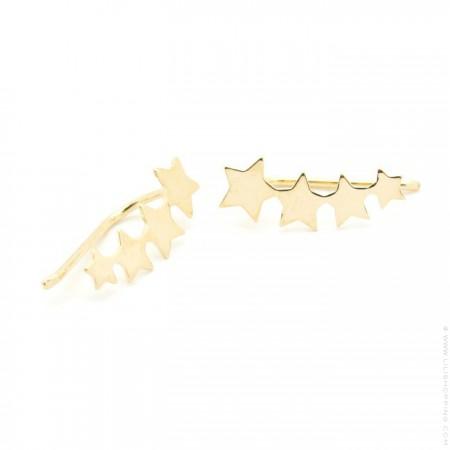Boucles d'oreilles 4 étoiles plaquée or