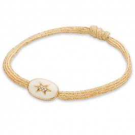 Ivory enamelled north star bracelet