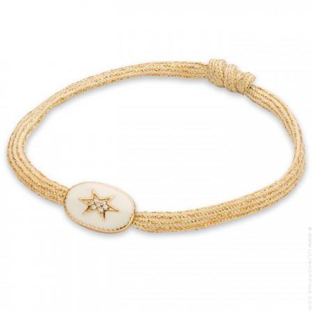 Bracelet étoile du nord émaillée ivoire
