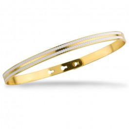 Bracelet 2 lignes laquées perlées blanc