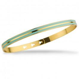 Bracelet 2 lignes laquées perlées p