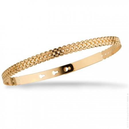 Bracelet bulles perlées plaqué or