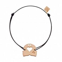 Bracelet Gémeaux plaqué or rose My Little Zodiac Les étoiles de Lily