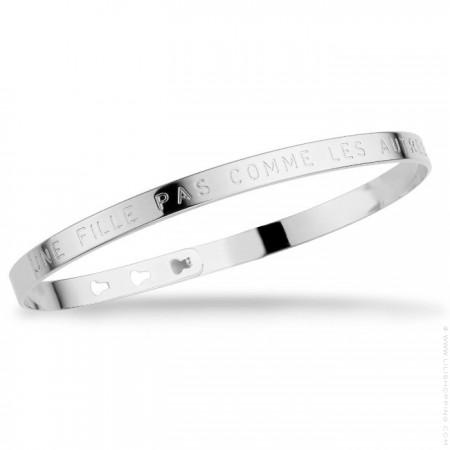Une fille pas comme les autres silver platted bracelet
