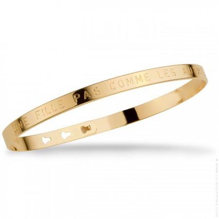 Bracelet Une fille pas comme les autres plaqué or