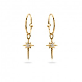 Stars gold platted earrings
