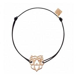 Bracelet Lion plaqué or rose My Little Zodiac Les étoiles de Lily