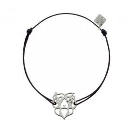 Bracelet Lion en argent My Little Zodiac Les étoiles de Lily