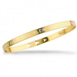 Bracelet Je suis parfaite avec plein de jolis défauts plaqué or