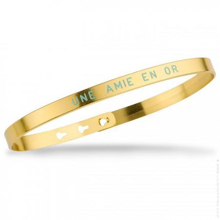 Bracelet Une amie en or turquoise plaqué or