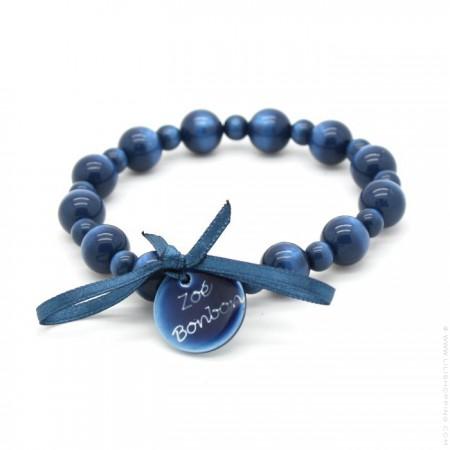 Bracelet Gabrielle nacré marine