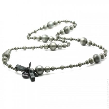 Dark grey Coco long necklace by Zoe Bonbon