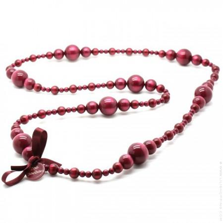 Raspberry Coco long necklace by Zoe Bonbon